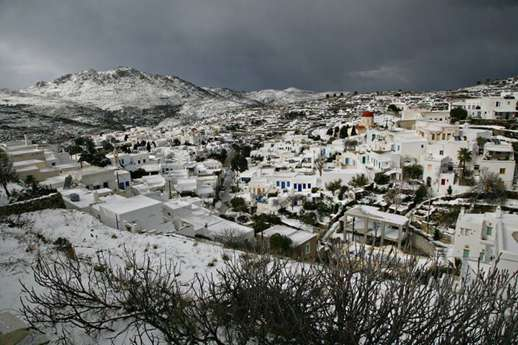 Snow on Tinos