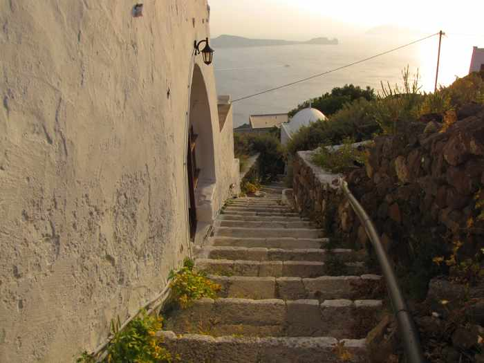 Steps to Kastro  on Milos
