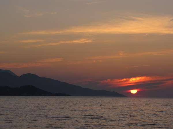 sunset over Vathy Bay Samos