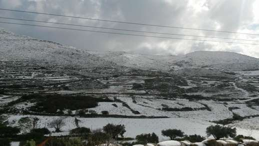 snow on Paros