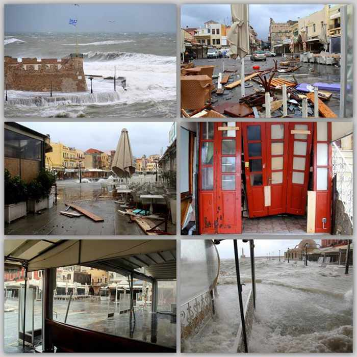 Chania Crete floodwater damage
