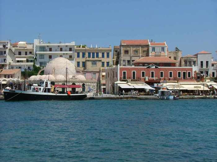 Chania harbourfront