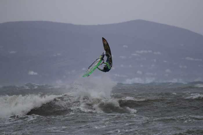 Manolis Orfanos windsurfing