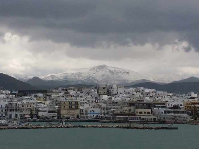 Snow on Naxos