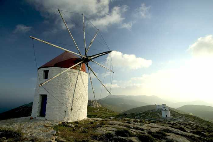 Windmills at Chora on Amorgos