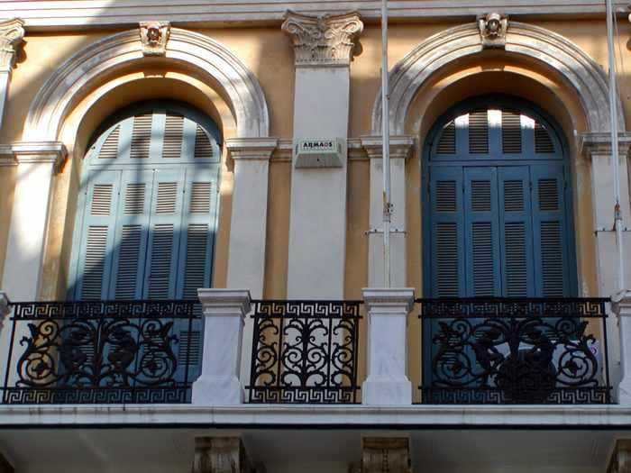 balconies in Heraklion