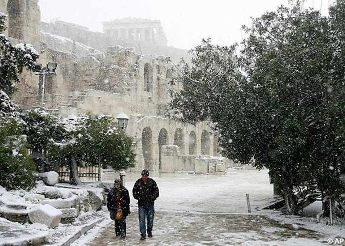 Acropolis and Odeon of Herodotus Atticus in Athens