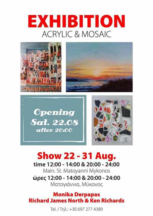 Acrylic & Mosaic Exhibition on Mykonos