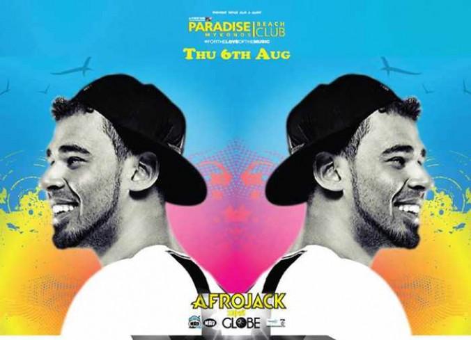 Afrojack appearance at Paradise Beach Club Mykonos