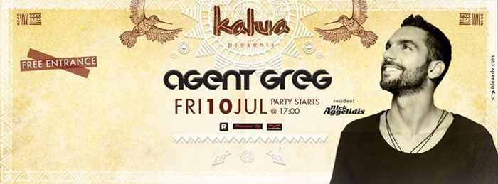 Agent Greg at Kalua Bar Mykonos July 10 2015