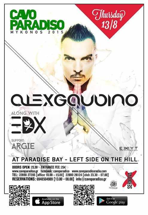 Alex Gaudino & EDX at Cavo Paradiso Mykonos