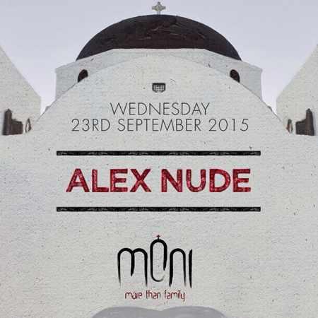 Alex Nude at Moni nightclub Mykonos