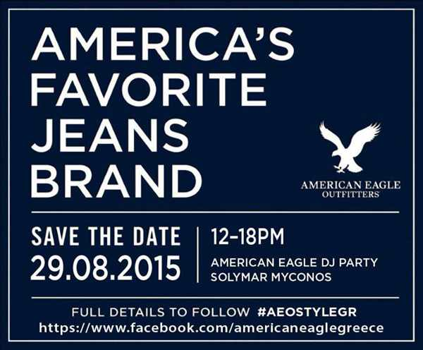 American Eagle Outfitters DJ party at Solymar Mykonos August 29 2015