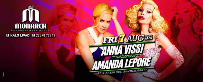 Anna Vissi and Amanda Lepore appearance at Monarch Beach Club