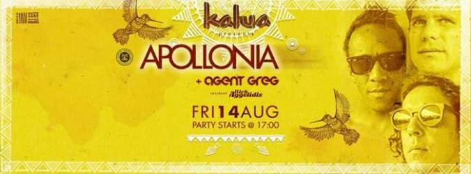 Apollonia with Agent Greg at Kalua Mykonos