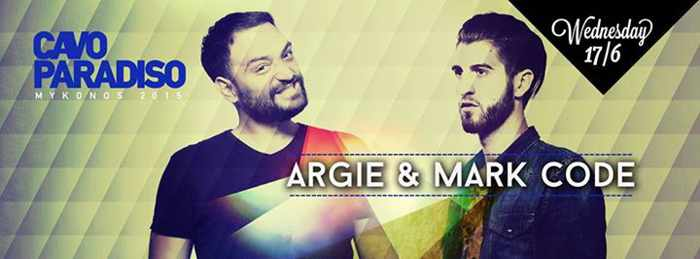 Argie & Mark Code spin at Cavo Paradiso June 17 2015