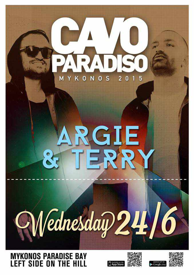 Argie & Terry at Cavo Paradiso Mykonos June 24 2015