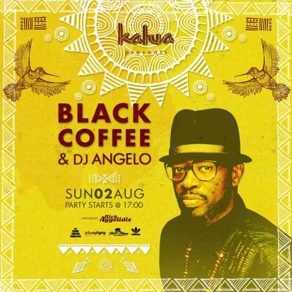 Black Coffee appearing at Kalua Mykonos