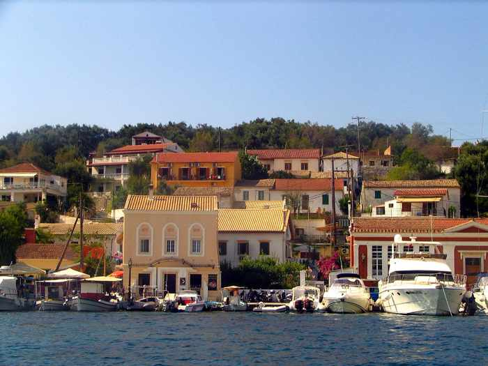 Gaios Town on Paxos island