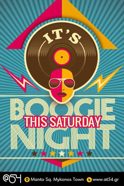Boogie Night at @54 nightclub Mykonos
