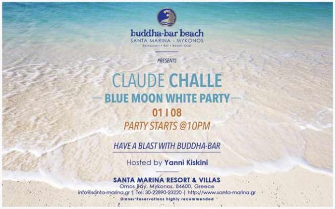 Buddha-Bar Beach Mykonos Blue Moon White Party