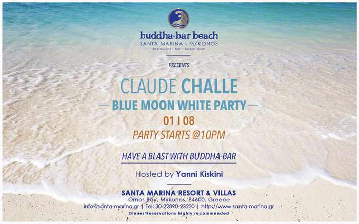 Buddha-Bar Beach Mykonos Blue Moon White Party