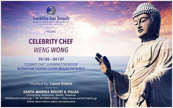 Buddha-Bar Beach Mykonos hosts celebrity chef Weng Wong