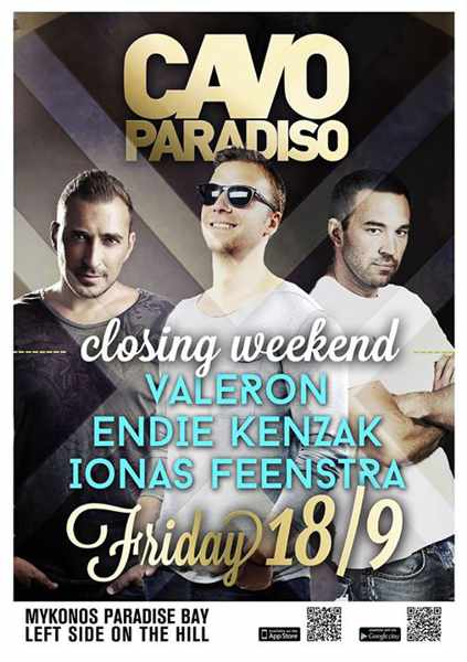 Cavo Paradiso 2015 closing party with Valeron, Endie Kenzak & Ionas Feenstra