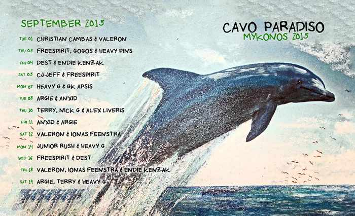 Cavo Paradiso Mykonos DJ lineup for September 2015