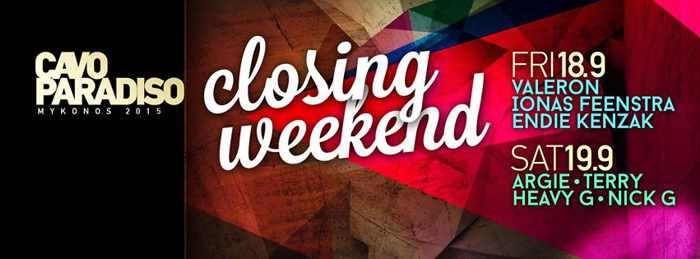 Cavo Paradiso closing party 2015