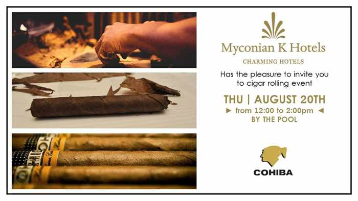 Cigar Rolling Event at the Mykonian K Hotels in Mykonos