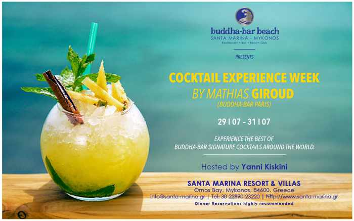 Cocktail experience week at Buddha-Bar Beach