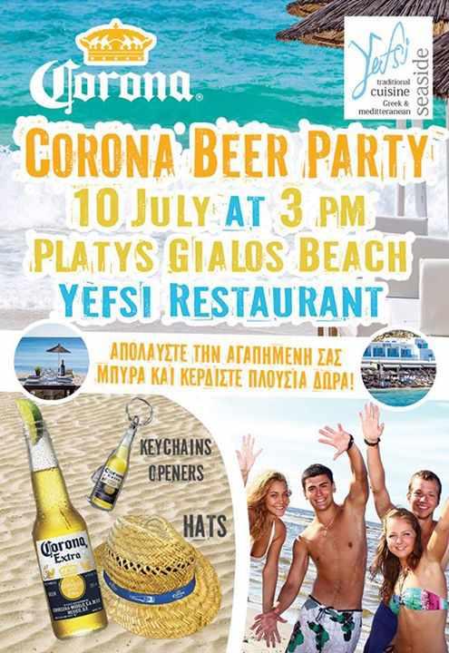 Corona beer party