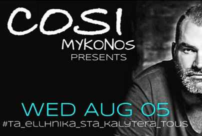 Cosi Cafe-Bar Mykonos presents Giannis Lachanos