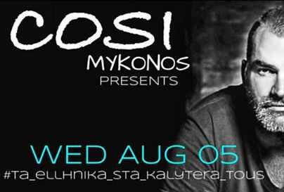 Cosi Cafe-Bar Mykonos presents Giannis Lachanos