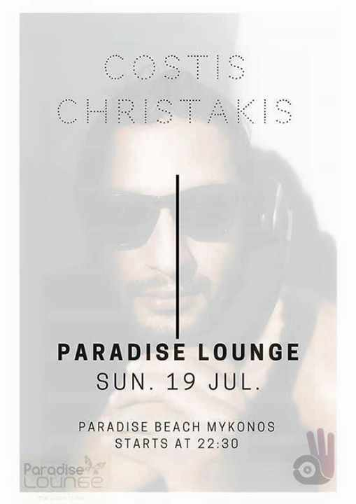 Costis Christakis at Paradise lounge