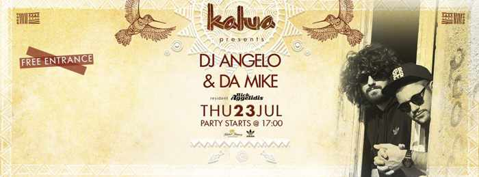 DJ Angela and DA Mike at Kalua bar Mykonos July 23 2015