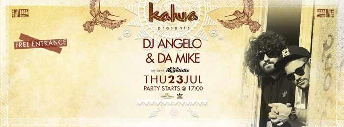 DJ Angela and DA Mike at Kalua bar Mykonos July 23 2015