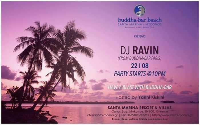 DJ Ravin at Buddha-Bar Beach Mykonos
