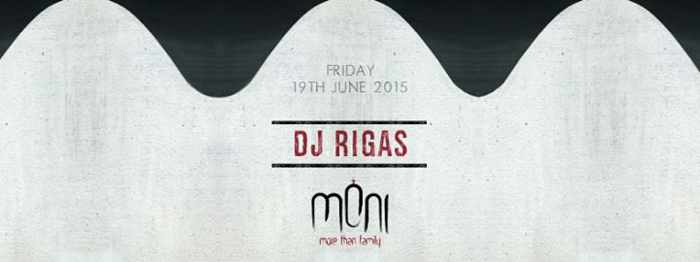 DJ Rigas spinning at Moni nightclub Mykonos June 19 2015