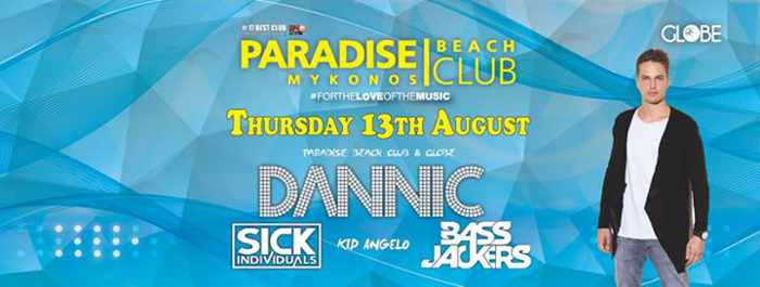 Dannic and Sick Individuals appearing at Paradise beach club Mykonos