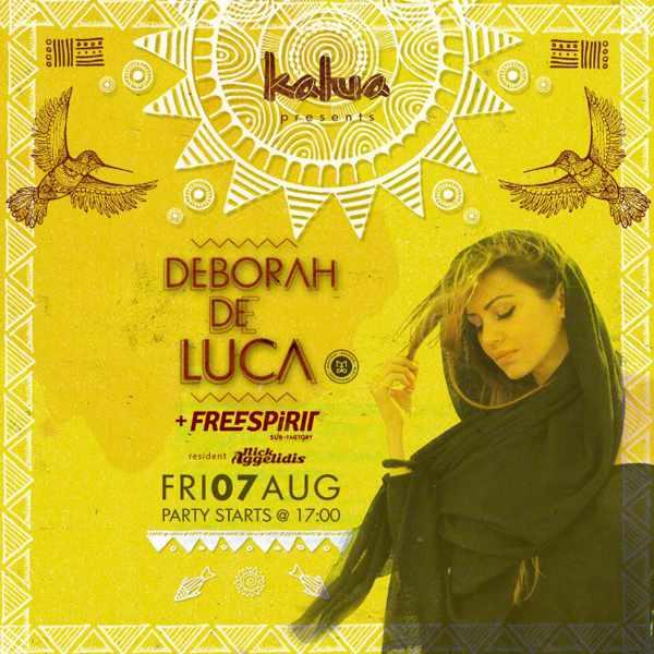 Deborah de Luca appearing at Kalua bar Mykonos