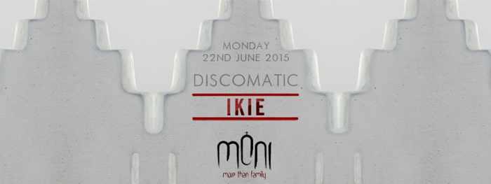 Discomatic featuring I-Kie at Moni nightclub Mykonos June 22 2015