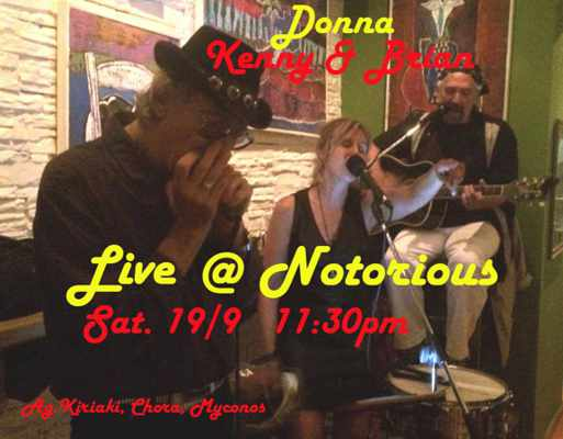 Donna, Kenny & Brian appearing live at Notorious Bar