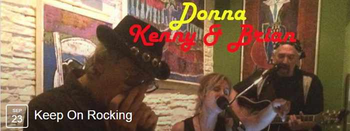 Donna, Kenny & Brian live show at Notorious Bar Mykonos September 23 2015