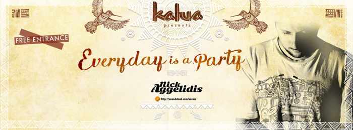 Kalua bar daily beach parties