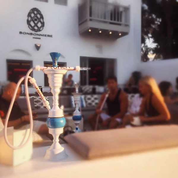 shisha lounge at Drunch Mykonos