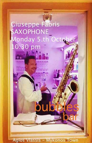 Bubbles Gallery Champagne & Cocktail Bar Mykonos live music