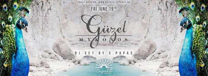 Guzel Mykonos party broadcast to Bagatelle club Paris June 19 2015