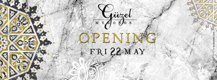 Guzel Stage Club Mykonos promotional image for its May 22 2015 opening
